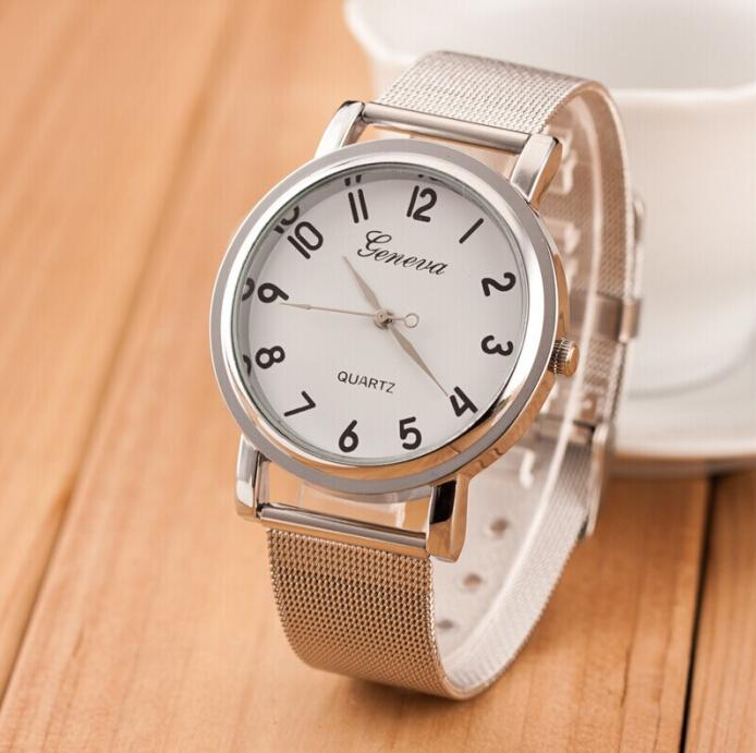 657dc889c New Silver Geneva Watch Women Men Fashion Stainless Steel Watch Female  Casual Quartz Watch Hodinky Dames Horloges Discounted Watches Watches  Discount From ...