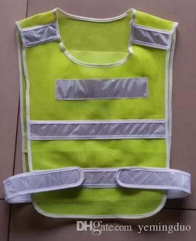 مخصص طباعة الشعار كلمة جديدة عالية الوضوح سلامة عاكس ملابس السلامة المرورية تحذير سترة واقية