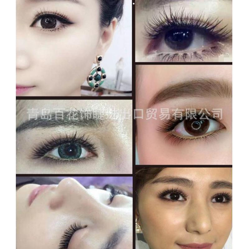 Thick Long W Knot Free False Eyelashes 3D Individual Eyelash Extension C Curl 8mm 10mm 12mm 14mm