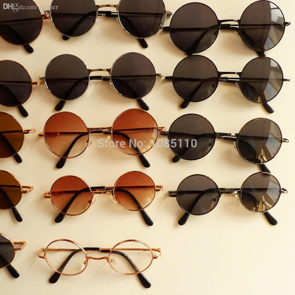 2ec66489d0cf8 Wholesale-Round Sunglasses Shades Hippy Penny Vintage 60s John Lennon  Sunnies Glasses Cool Sunglass Cleaning Glasses Pc Sunglasses Black Online  with ...