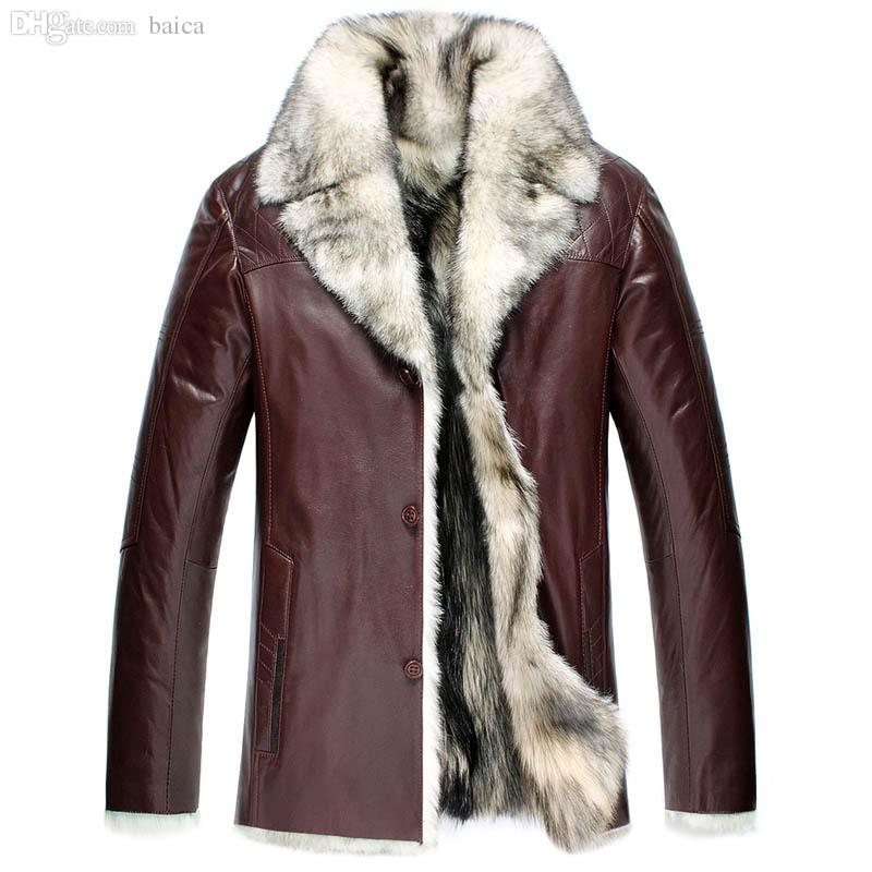 Online Cheap Fall 6xl Plus Size Lambskin Leather Clothes First ...