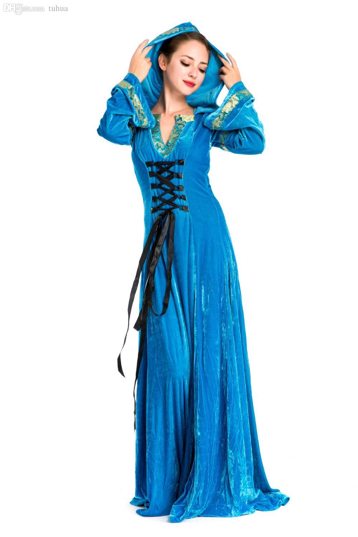 Wholesale Lolita Gothic Renaissance Dress Medieval Queen Long ...
