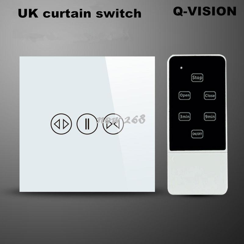 2018 Uk Smart Home Switch Electric Wireless Curtain Wall Switch Home ...