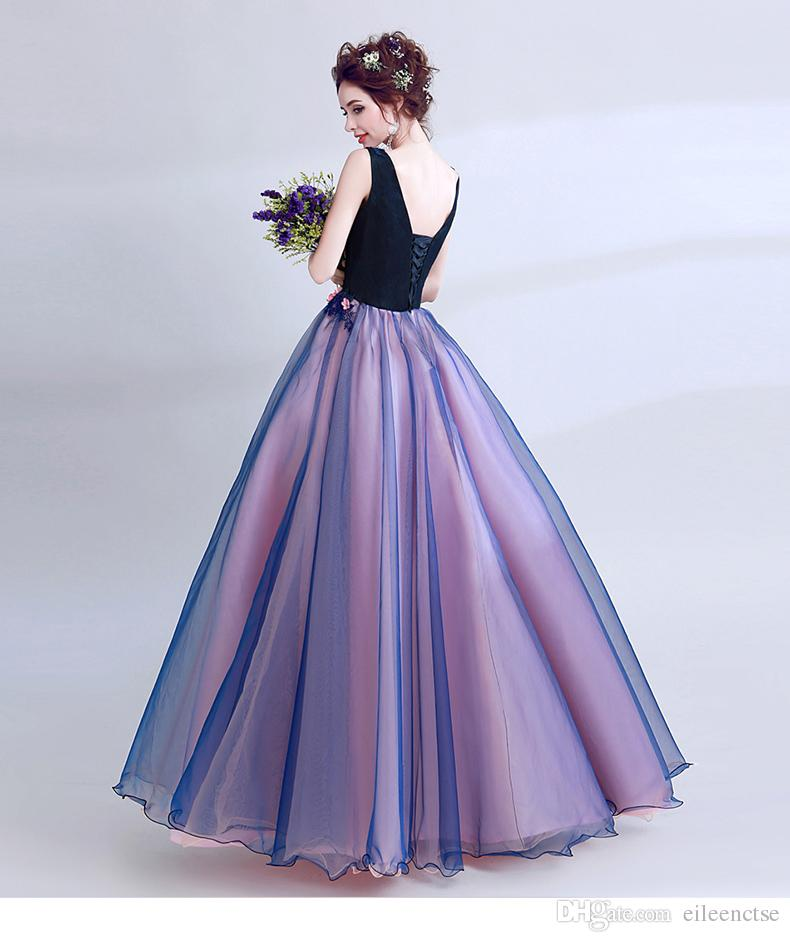 Blue V neck printed with beading lace-up 2019 vintage marriage party dresses for women sexy clothing