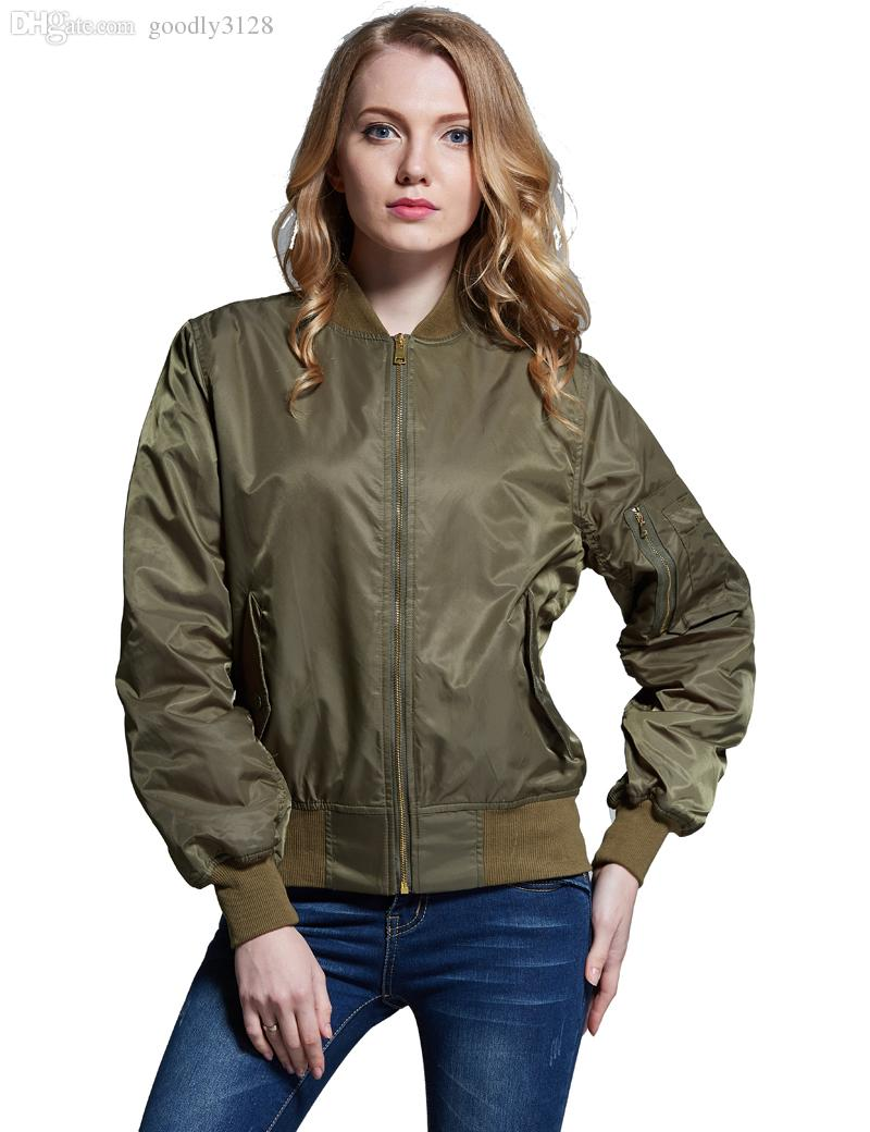Wholesale New Arrival Plus Size Bomber Jacket Women Quilted Army ...