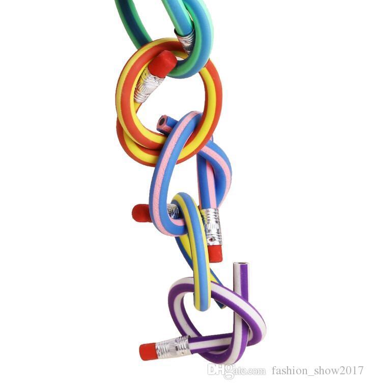 Matita morbida pieghevole colorata carina con gomma da cancellare Giocattolo coreano Student Rewarding Gift Children School Fun Equipment