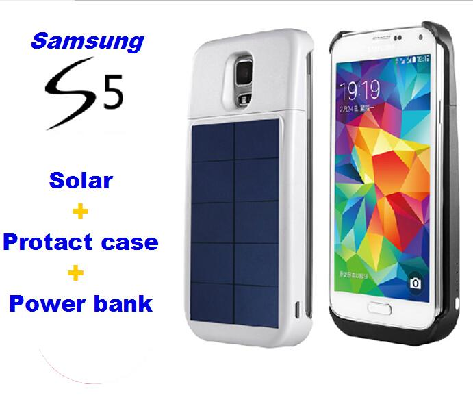 new product 1e2fc 2597c Solar charger case for Samsung Galaxy S5 Solar Battery Charger Case Extra  Battery power bank 4000 mah