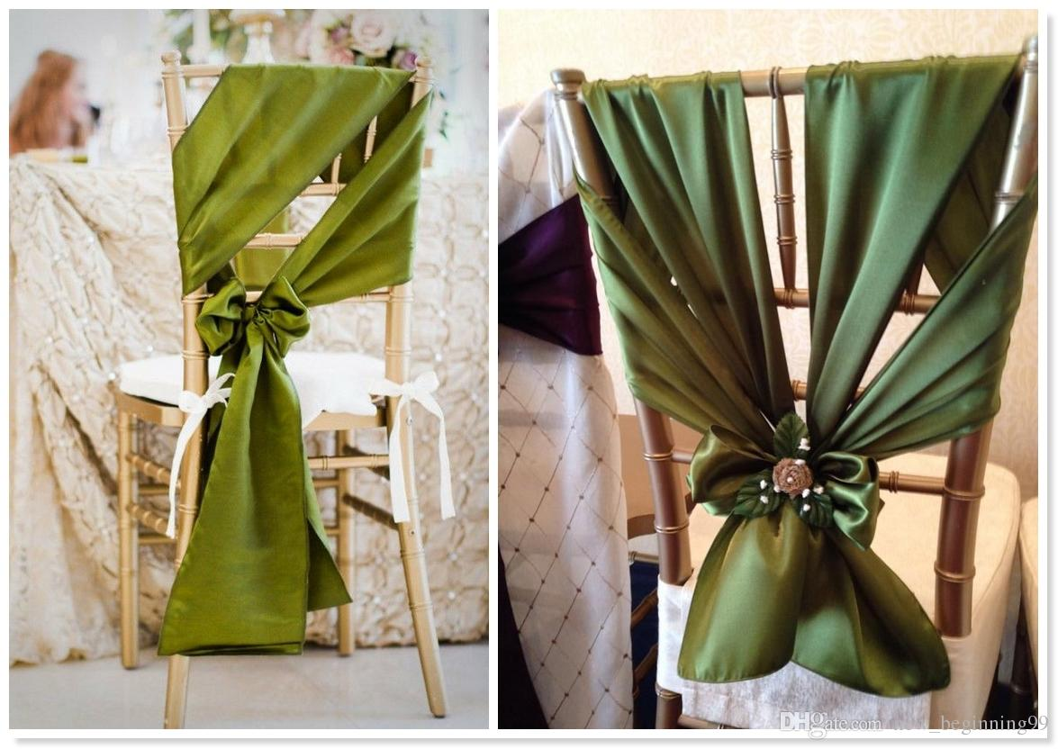 Custom Made Dark Green Chair Covers New Arrival Wedding Classic Vintage Chair Sashes Colorful Wedding Supplies