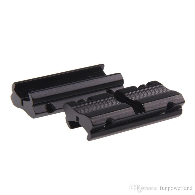 """Funpowerland 3/8"""" 11mm Dovetail to 7/8""""Weaver Picatinny Rail Adapter Mount Free Ship 20mm Weaver Picatinny Rail Adapter Mount"""