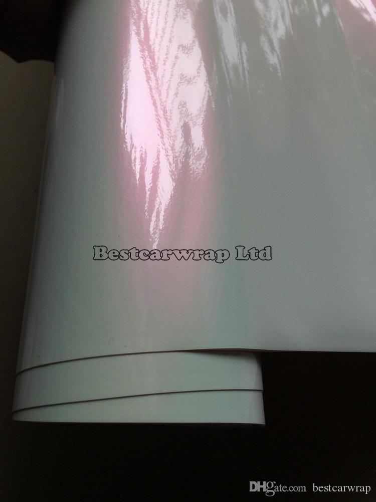 Pérola Brilhante Chameelon Vinil Para Carro filme de embrulho com Bolha Livre Para Adesivos de Carro FedEx FRETE GRÁTIS Tamanho: 1.52 * 20 m / Roll