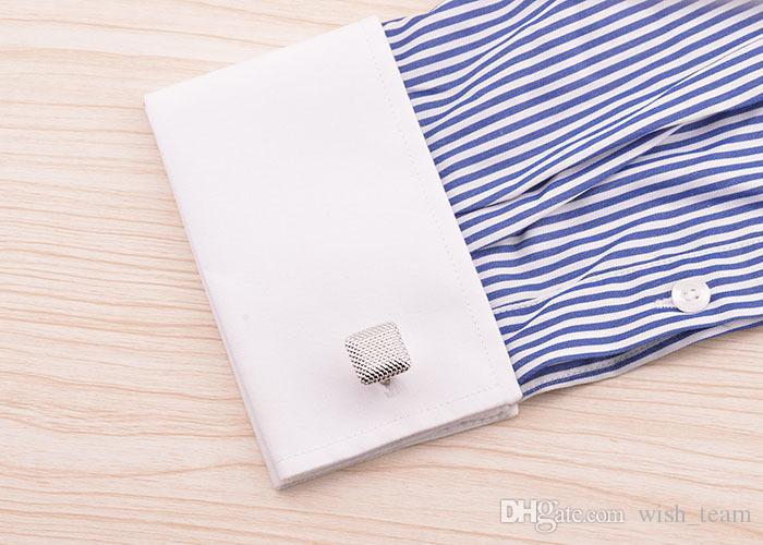2016 mancuernas de la manera joyería francés Gemelos hombres del diseñador de la mancuerna francesa Accesorios Camisa mancuerna W165 libera el envío