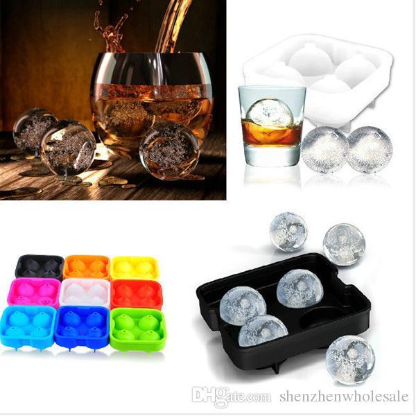 HOT Bar Drink Whisky Sphere Big Round Ball Ice Brick Cube Maker vassoio stampo Stampo 4 X 4.5cm Capacità Strumento