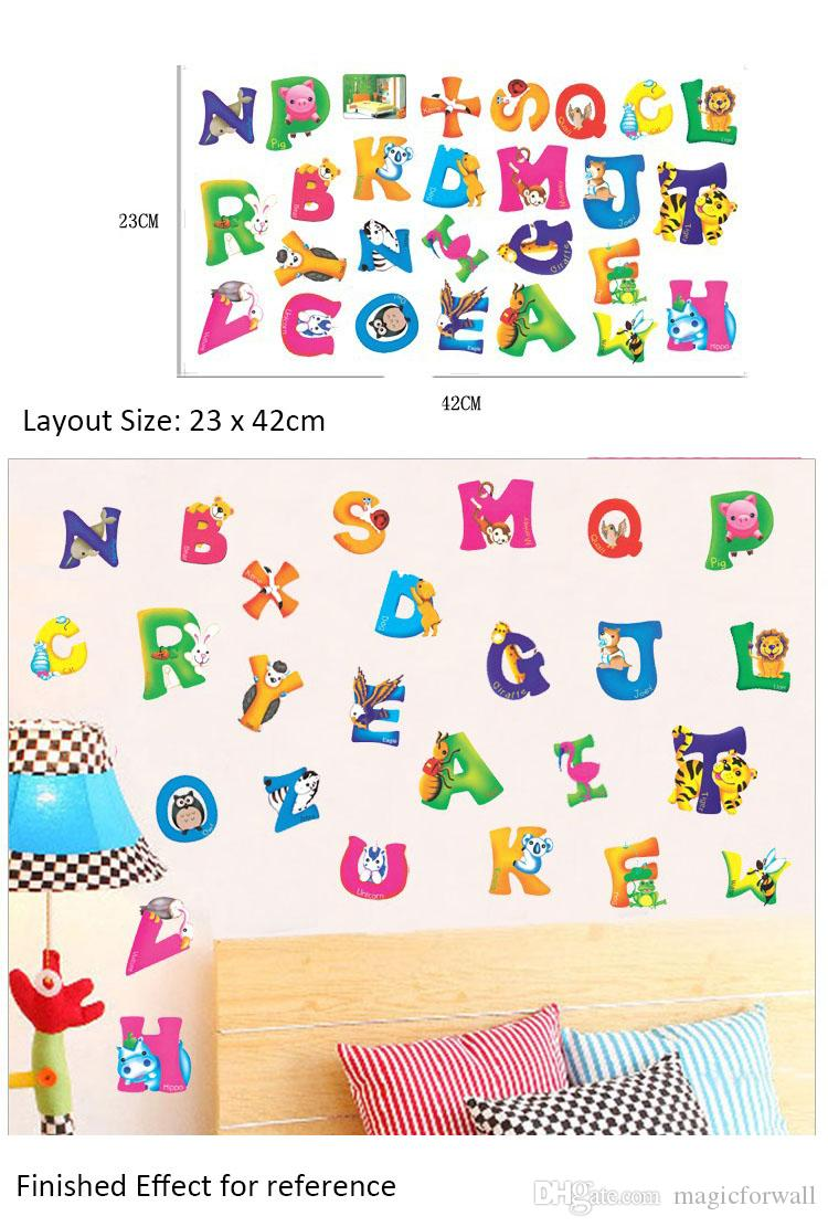 Alphabet wall stickers animal alphabet dena designs peel and colorful alphabet wall art mural decal english word wall quote home decoration sticker black tree french wall quote art mural decal decals wall decals wall amipublicfo Gallery