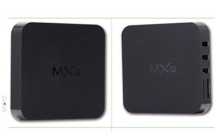 16.1 akıllı MX MXQ TV KUTUSU Amlogic S805 Dört Çekirdekli Android 4.4.2 Akış Video H.265 1 GB 8 GB TV Kanalları Medya Oynatıcı Google OTH035 Oyna