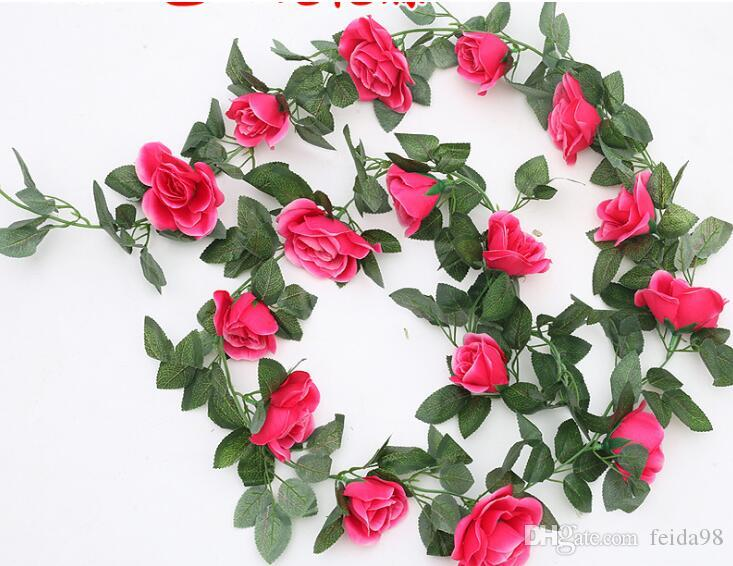 16 heads of simulated roses, rattan, leaves, rattan, plastic flowers, rattan ornaments, green leafy vines, diamonds, rose canes,