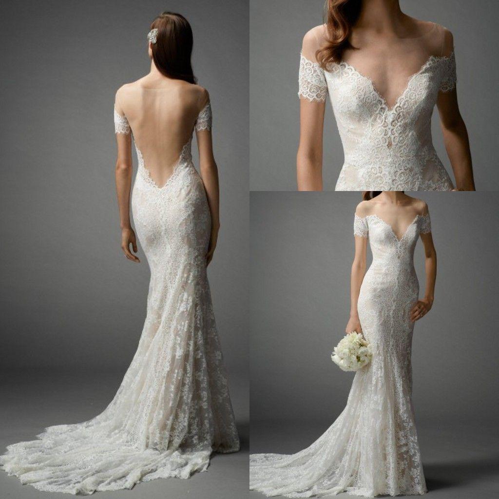 Sexy Off Shoulder Lace Wedding Dress 2015 Vintage