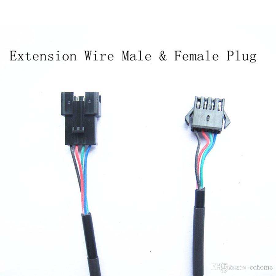 Play to plug Black Extension Wire 3.9FT 120 cm Mannelijke plug voor vrouwelijke plugset voor ondercar onderboay-verlichting
