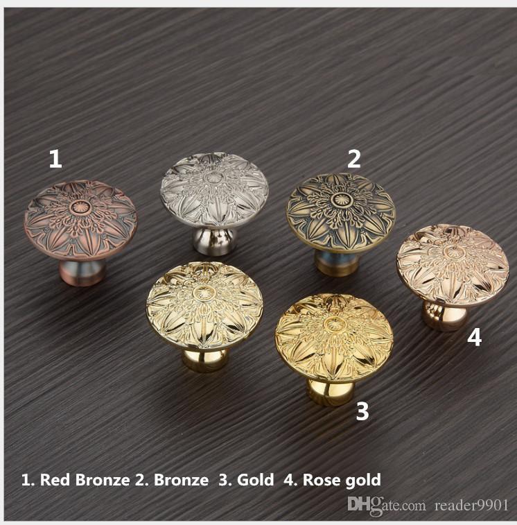 Antique Copper Door Knob/pull Red Bronze, Bronze, Golden, Rose Gold ...