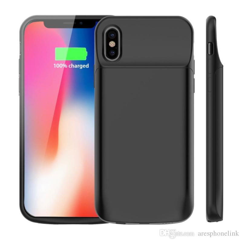 new product 0e28f 8e238 For iPhone X Battery Case 6000mAh Rechargeable External Battery Portable  Power Charger Protective Charging Case for Apple iPhone X 10