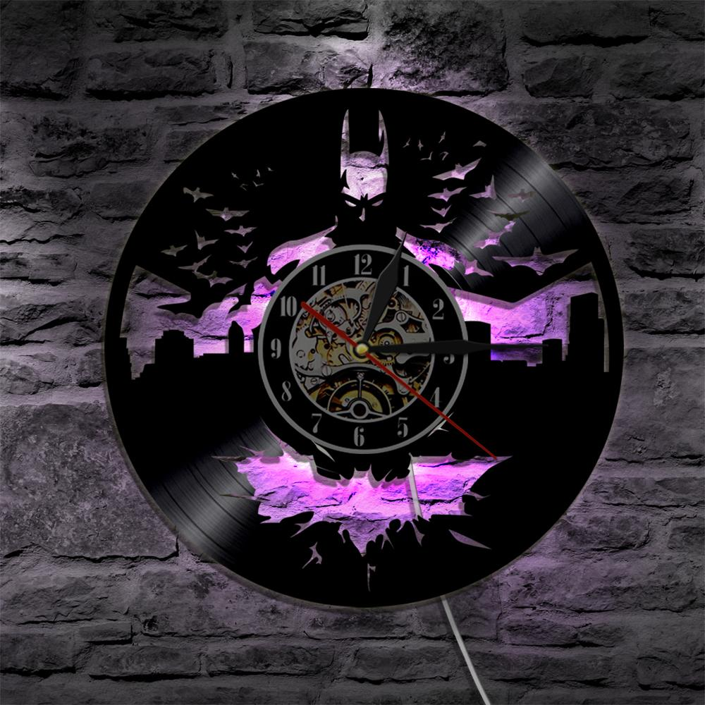 led lighted wall clocks