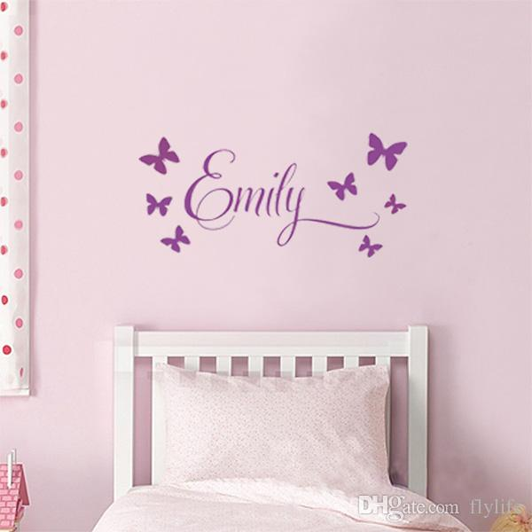 Customer Made Personalised Name Among The Butterflies Wall - Wall stickers for girls