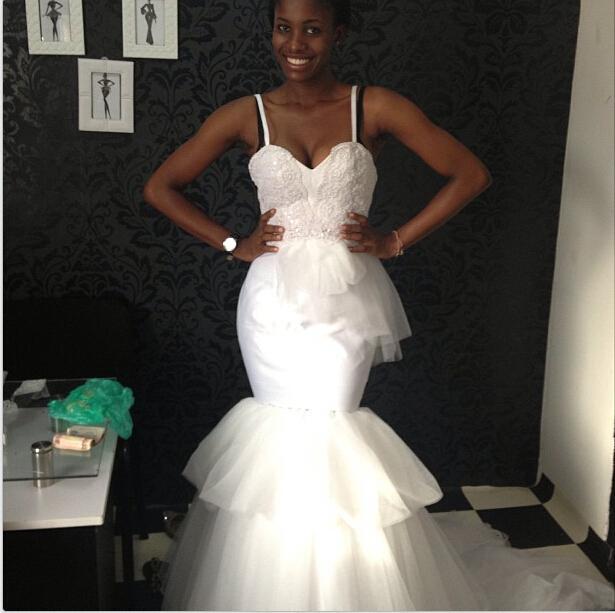Spaghetti Strap Black Wedding Dress