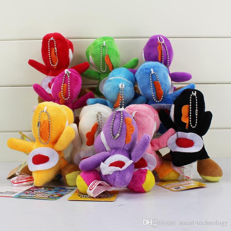سوبر ماريو بروس يوشي القطيفة سلسلة المفاتيح 10 الألوان القطيفة دمية أطفال هدية 10cm والشحن مجانا