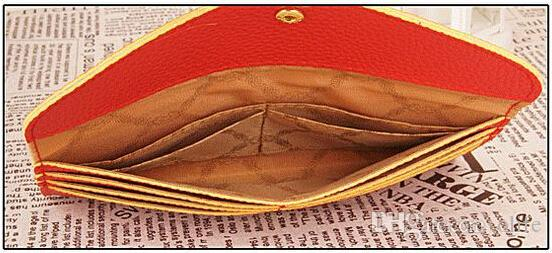 Конфеты цвет Леди кошельки искусственная кожа кредитной карты тотализатор конверт клатчи для женщин Кошелек кошелек мешок монетки DHL