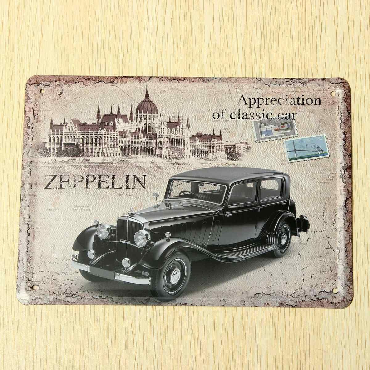 Vintage car stamp metal tin plaque hanging pub bar wall art home see larger image amipublicfo Images