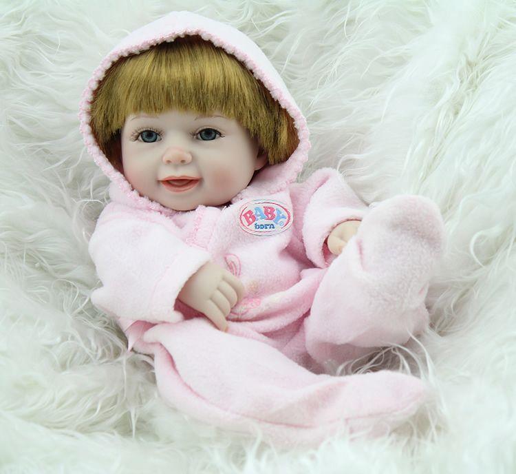 Mini silicone baby doll clothes