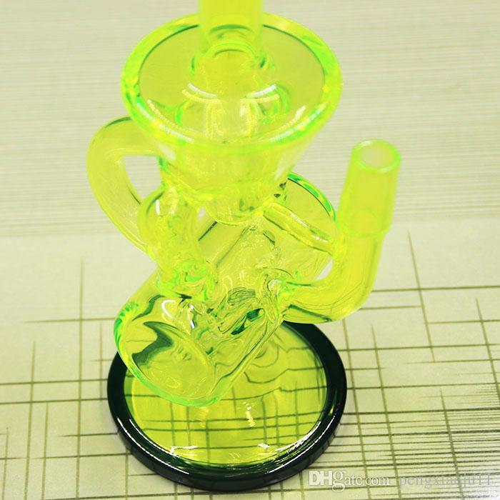 Yeni Renkli cam bong ile Domeless Titanyum tırnak Faberge Su borusu Cam Bongs Su Boruları Recycler Filtre Percolators Sigara