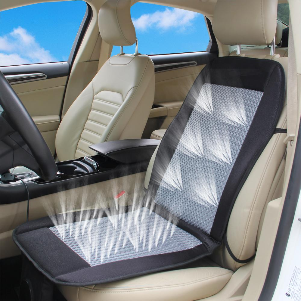 12v car air cushion car summer cool ventilated car seat cushion seat covers with fan cooler. Black Bedroom Furniture Sets. Home Design Ideas