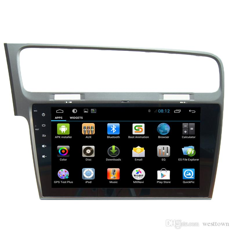 2 Din Auto Radio Android Quad Core VW Golf 7 mit GPS Glonass Navigation TV OBD Stereo Auto DVD-Player
