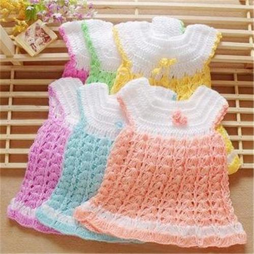 Baby pink knitted dress