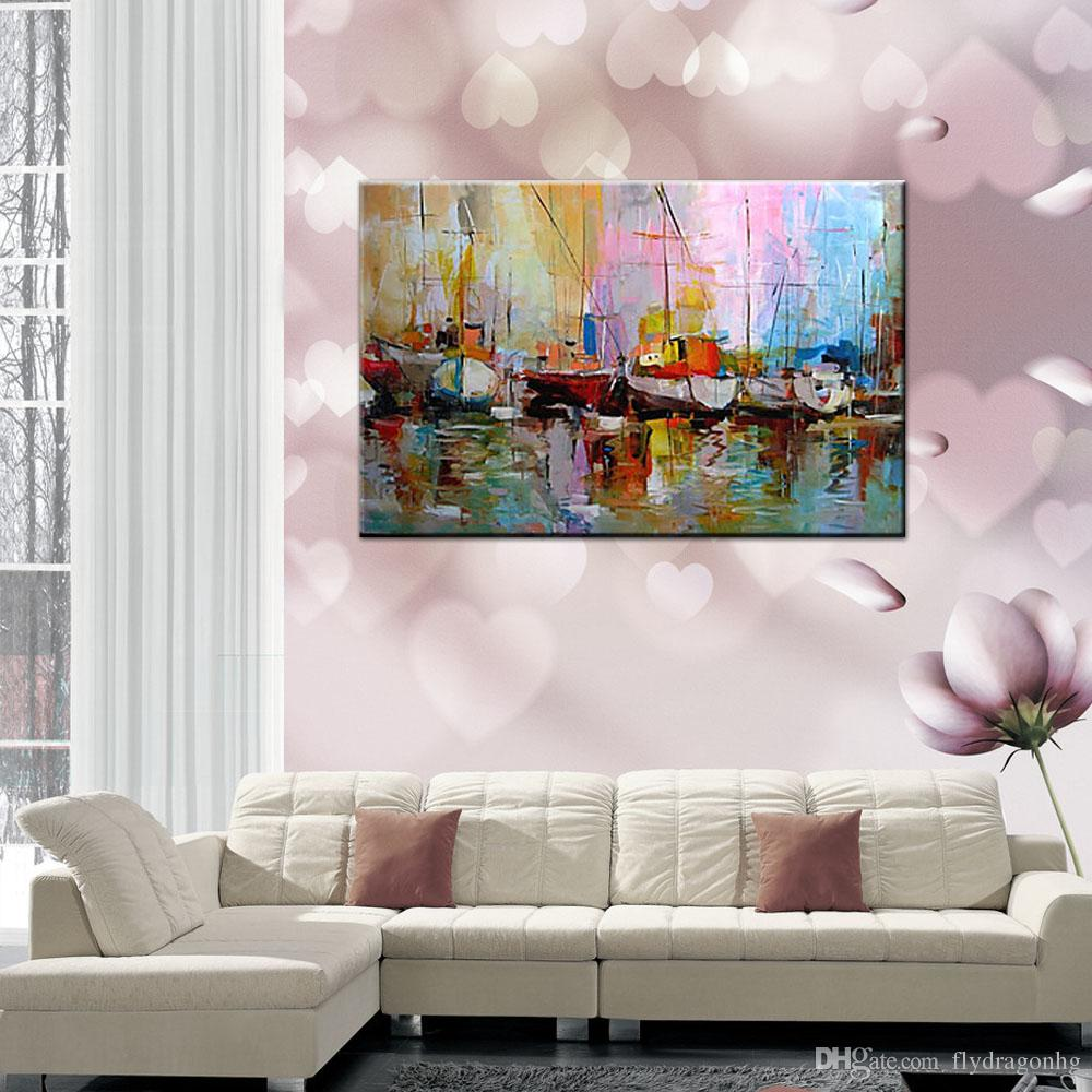 2017 20 24inch oil paintings one panel abstract boats on shoreside 2017 20 24inch oil paintings one panel abstract boats on shoreside hand painted canvas ready to hang home decor wall paper art from flydragonhg