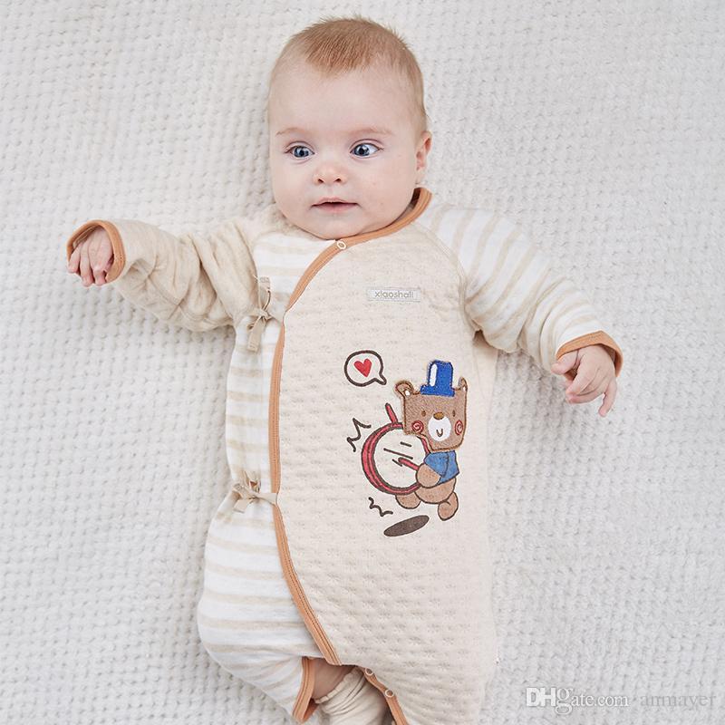 6bd73db02c2b 2018 New Born Baby Cotton Rompers Cartoon Bear Air Layer Infant Tank ...