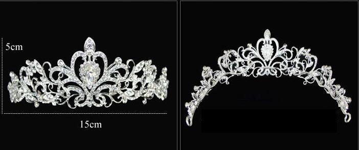 Тиары золота Тиары Короны Свадебные волосы ювелирные изделия neceklace, earring Дешевые оптовые моды девушки вечерние платья выпускного вечера аксессуары