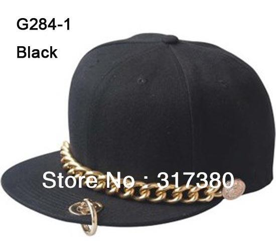 NEW Designer Flat Bill Cool Hats For Men Snap back Hat Baseball Cap Men  Snapbacks Mens Visor Chain Flat Peak Caps Women Sport