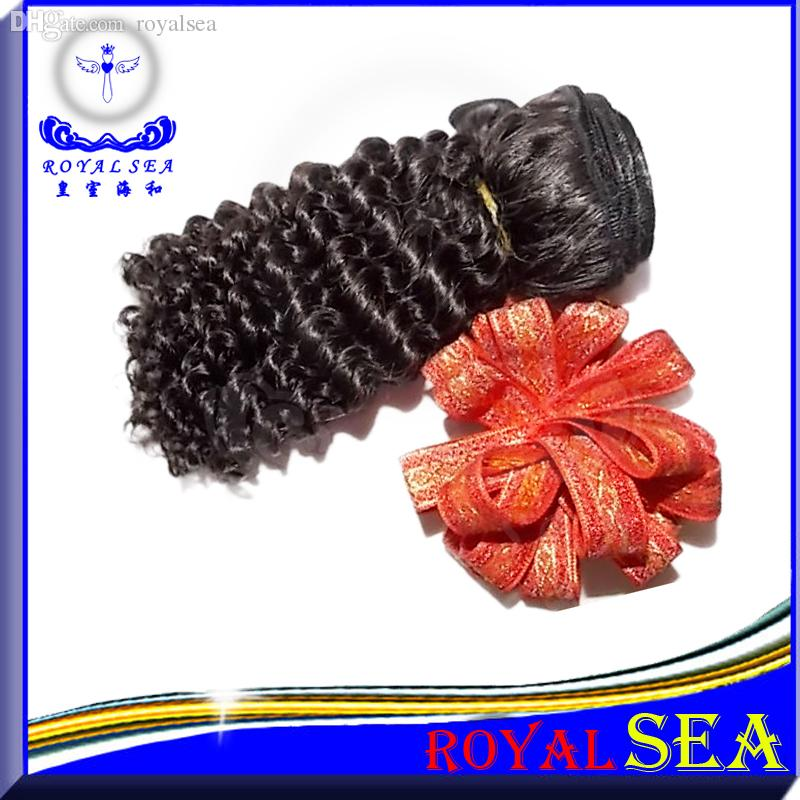 "Brazilian Peruvian Malaysian Indian Hair Weft Weave 100% Unprocessed Hair 8""-30"" Kinky Curly Natural Color Hair Extensions"