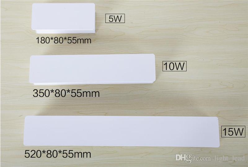 AC90-260V LED Duvar Lambaları 5 W 10 W 15 W Modern Avrupa Tarzı Fuaye Oturma Odası Yatak Odası lamba Başucu Koridor Aydınlatma Dekorasyon