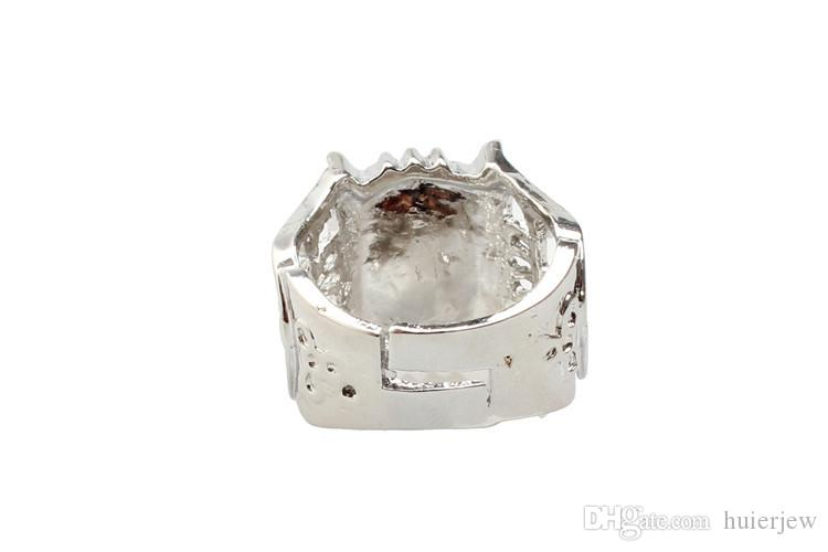 Wedding Rings for Women Men Cluster Rings For Women Fashion Jewelry Brand Silver Crystal Gemstone Rings