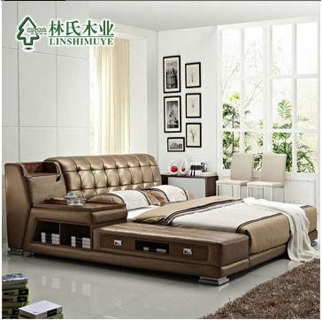 modern genuine leather sofa bedstorage bed inhome delivery by boat withou mattress