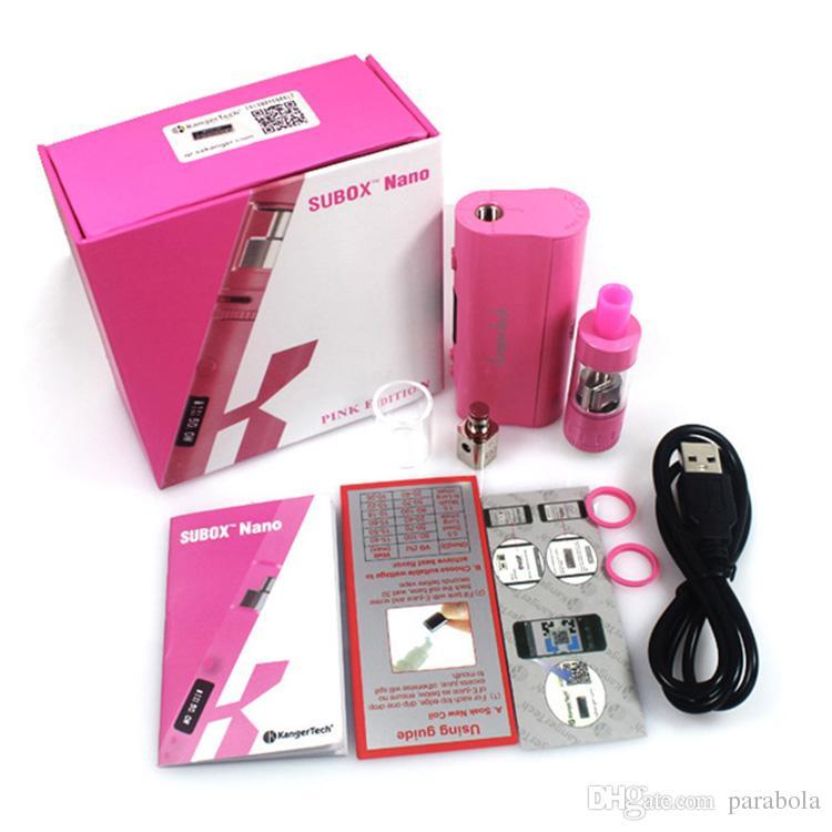 Autêntico kanger subox nano Starter Kit Kbox nano 50 W E cigarro 18650 Mod Subtanque nano 3 ml OCC Sub ohm e Cigarro Livre