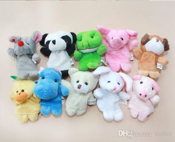 / dhl fedex djurfinger marionetter barn baby söt lek historia velvet plysch leksaker diverse djur