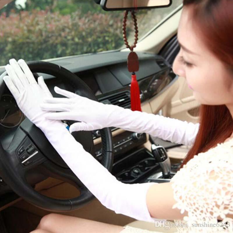 Spandex High Elasticity Long Elbow Sun Protective Gloves Opera Party Bride Wedding Fashion Gloves