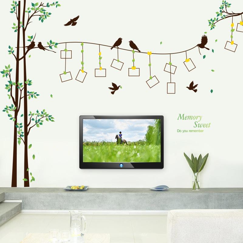 Marca 2017 290 * 205 Tamanho Grande Família Photo Frame Árvore Adesivo de Parede Decalque Home Decor Sala de estar Quarto Adesivos de Parede Cartaz DIY