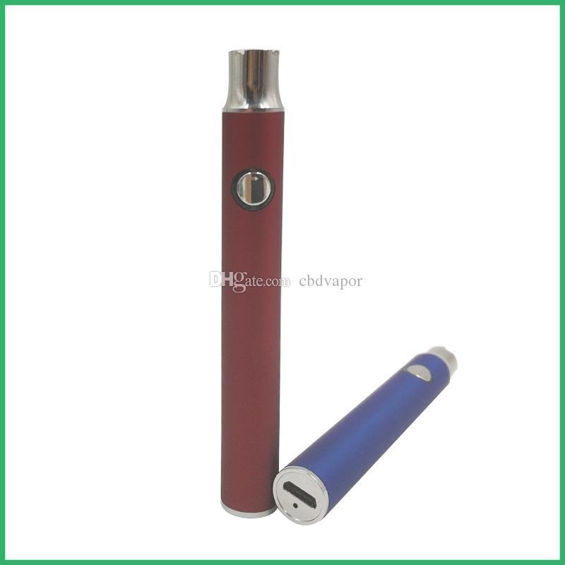 cartouche vape vide fonction de préchauffage batterie à tension variable 510 fil 400mAh batterie de préchauffage rapide Bas micro usb stylo vape