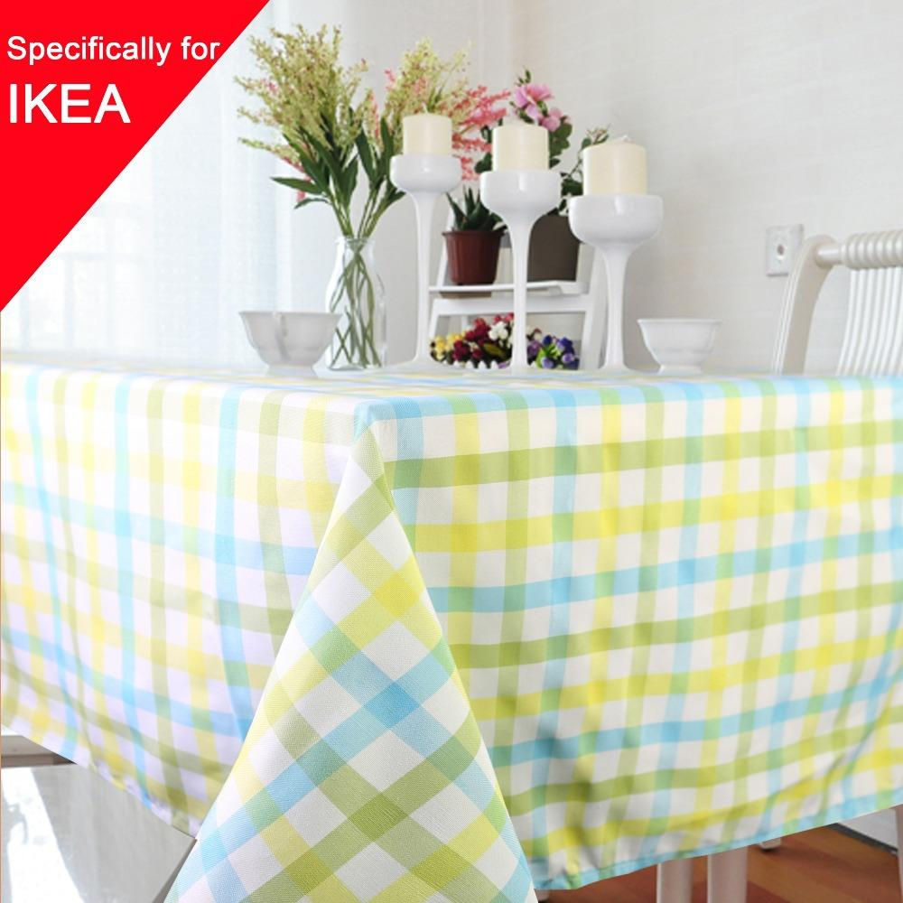 Party Table Cover Cloth 85*85cm Plaid Tablecloth Yarn Dyed Plain  Tablecloths Home Dining Room 1pcs/lot