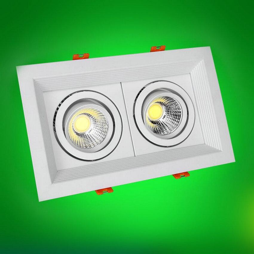 2*10w Double Cob Led Lamp Led Downlight Cold Warm White Recessed ...
