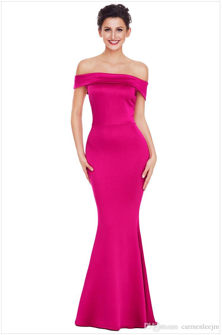 Compre 2018 Fiesta De Navidad Vestidos Largos Formales Elegantes ...